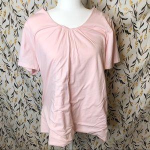 New! Merona light pink blouse plus size 1X